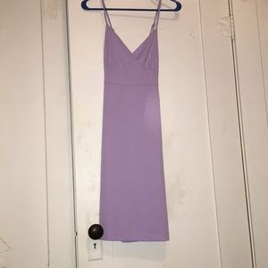lavender mid length dress
